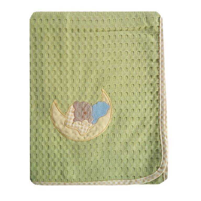 Κουβέρτα Αγκαλιάς Πικέ 80×110εκ. Φεγγαράκι 131 Dim Collection (Ύφασμα: Βαμβάκι 100%, Χρώμα: Λαχανί ) – DimCol – 1210413706513116