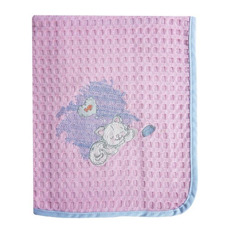Κουβέρτα Κούνιας Πικέ 110×160εκ. Γατάκι 127 Dim Collection – DimCol – 1210414202312756