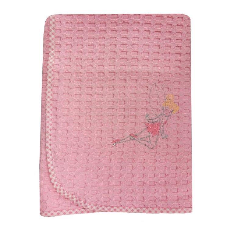 Κουβέρτα Κούνιας Πικέ 110×160εκ. Νεράιδα 37 Dim Collection (Ύφασμα: Βαμβάκι 100%, Χρώμα: Ροζ) – DimCol – 1210414202503726