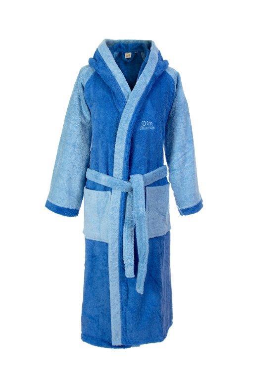 Μπουρνούζι Ενηλίκων Με Κουκούλα Dim Collection Large (Ύφασμα: Βαμβάκι 100%, Χρώμα: Μπλε) – DimCol – 1330911904840222