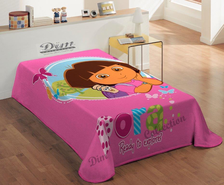 Κουβέρτα Μονή Παιδική Βελουτέ 160×220εκ. Dora Dim Collection – Disney – 2420225603500099