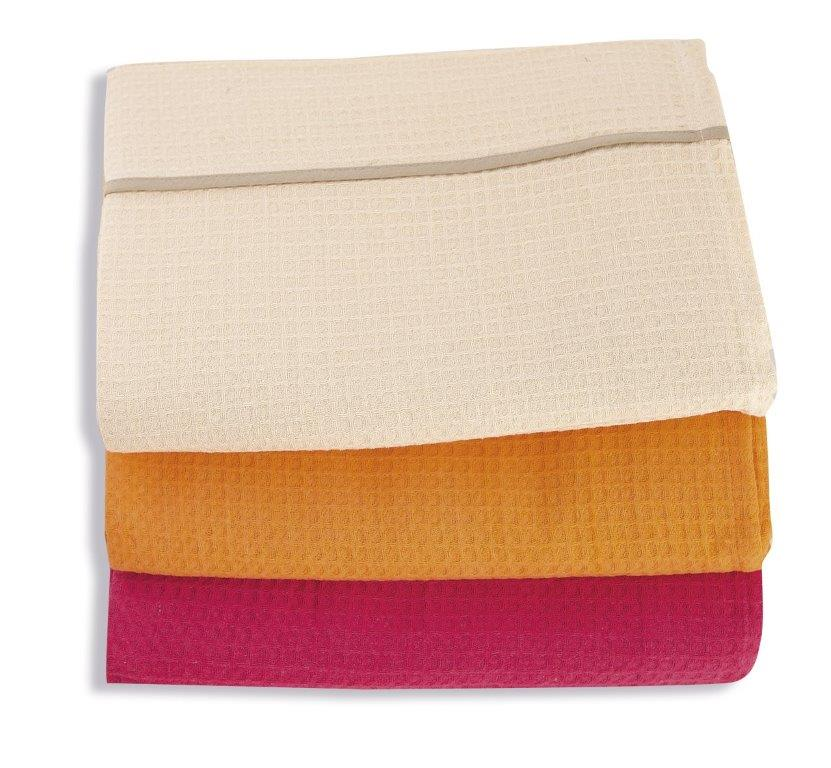 Κουβέρτα Πικέ Υπέρδιπλη 230x260εκ. Dim Collection Πορτοκαλί (Ύφασμα: Βαμβάκι 100%) - DimCol - 1330417000000025