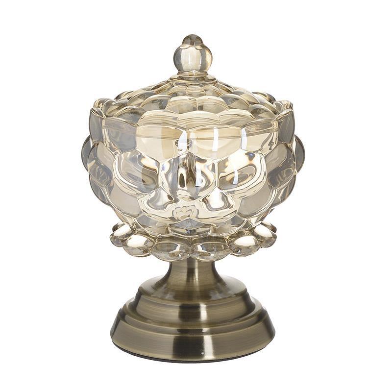 Κουπ Γυάλινη – Μεταλλική Με Καπάκι CLICK 15x15x22εκ. 6-70-151-0005 (Υλικό: Μεταλλικό, Χρώμα: Χρυσό ) – CLICK – 6-70-151-0005