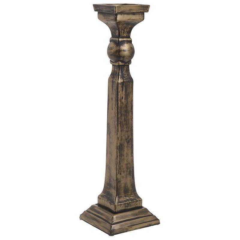 Κηροπήγιο Γυάλινο Αντικέ inart 15×53εκ. 3-70-811-0022 – inart – 3-70-811-0022