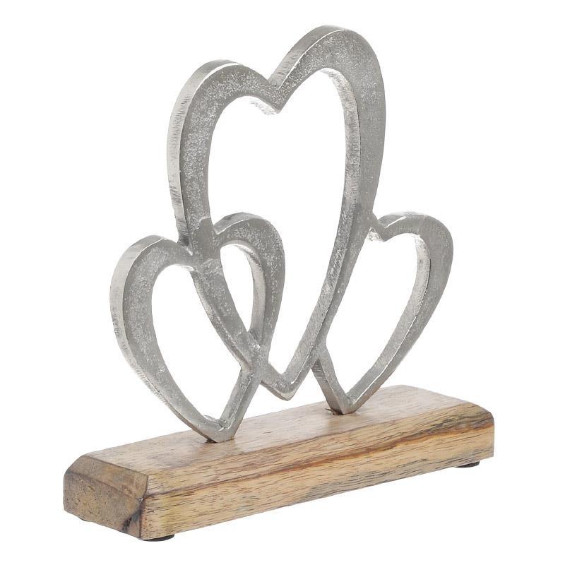Διακοσμητικό Ξύλινο-Μεταλλικό Καρδιές inart 18x5x18εκ. – inart – 3-70-357-0084