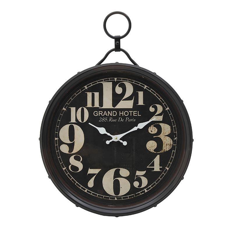 Ρολόι Τοίχου Μεταλλικό inart 40x6x54,5εκ. 3-20-773-0283 – inart – 3-20-773-0283