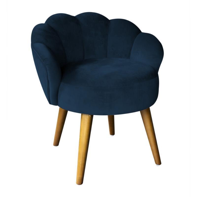 Καρέκλα-Σκαμπώ Βελούδινο inart 55x53x61εκ. 3-50-104-0390 (Ύφασμα: Βελούδο, Χρώμα: Μπλε) – inart – 3-50-104-0390