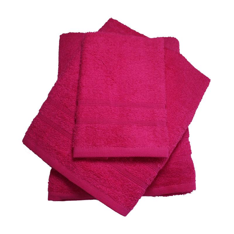 Σετ πετσέτες 3τμχ 400gr/m2 Bano Fuchsia 24home – 24home.gr – bano-fuchsia