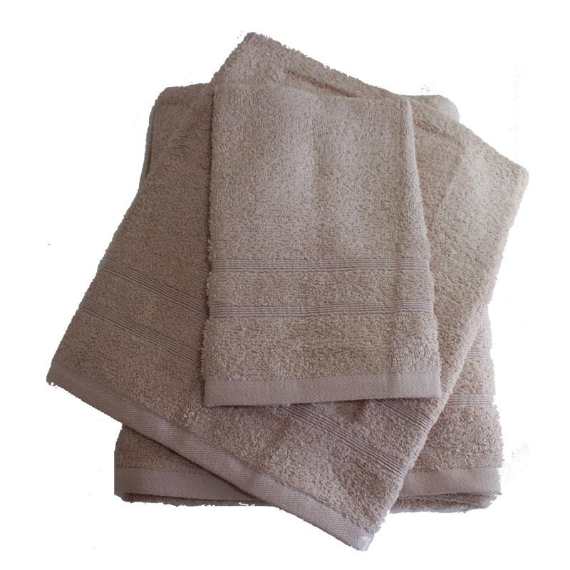 Σετ πετσέτες 3τμχ 400gr/m2 Bano Beige 24home – 24home.gr – bano-beige