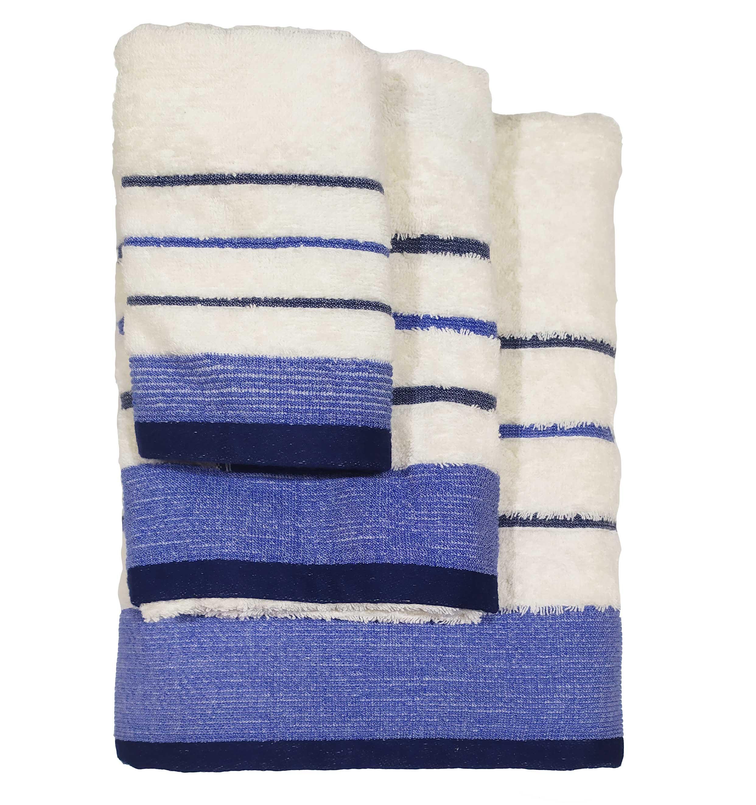 Σετ πετσέτες 3τμχ Βαμβακερές Raya Ekrou-Blue 24home – 24home.gr – raya-ekrou-blue