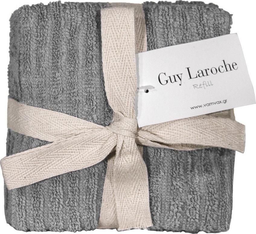 Σετ 6τμχ Λαβέτες 30×30εκ. Guy Laroche Guest Refill Anthracite – Guy Laroche – refill-anthracite