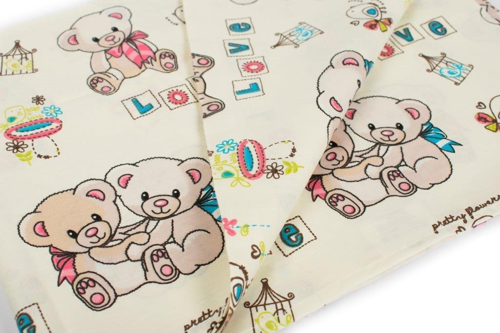 Παπλωματοθήκη Εμπριμέ Μπεμπέ 120×160εκ. Pretty Bear 92 Ecru Dimcol (Ύφασμα: Βαμβάκι 100%, Χρώμα: Εκρού ) – DimCol – 1915717606809278