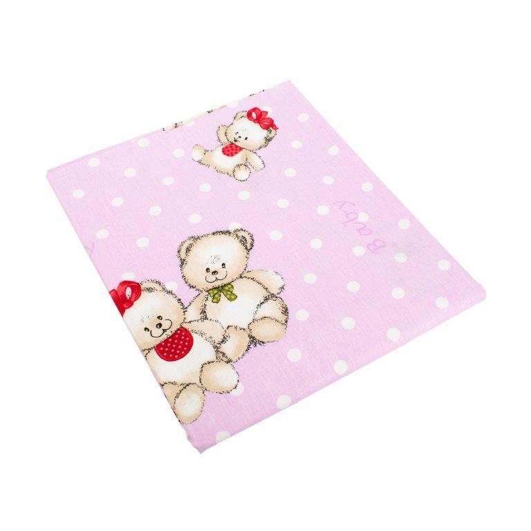 Παπλωματοθήκη Εμπριμέ Μπεμπέ 120×160εκ. Two Lovely Bears 65 Lila Dimcol (Ύφασμα: Βαμβάκι 100%, Χρώμα: Λιλά) – DimCol – 1915717606906574