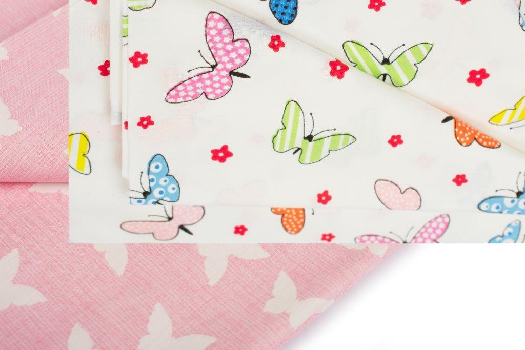 Σετ Σεντόνια Μονά 3τμχ Butterfly 52 Multi Pink Dimcol – DimCol – 1924615207205273