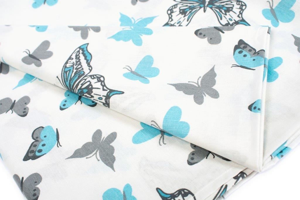 Σετ Σεντόνια Μονά 3τμχ Butterfly 56 Sky Blue Dimcol – DimCol – 1924615207205682