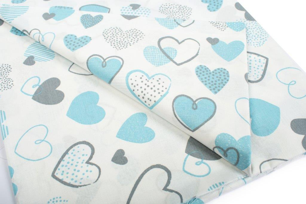 Σεντόνι Λίκνου Μεμονωμένο 80×110εκ. Hearts 08 Blue Dimcol. – DimCol – 1914413707800870