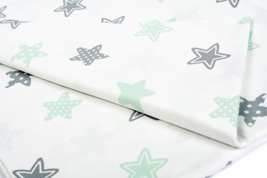 Σεντόνι Λίκνου Μεμονωμένο 80×110εκ. Star 101 Green Dimcol. (Ύφασμα: Βαμβάκι 100%, Χρώμα: Πράσινο ) – DimCol – 1914413707310181