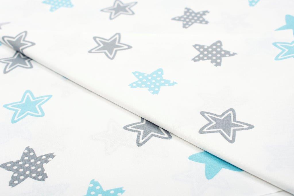 Σεντόνι Λίκνου Μεμονωμένο 80×110εκ. Star 104 Sky Blue Dimcol. (Ύφασμα: Βαμβάκι 100%, Χρώμα: Μπλε) – DimCol – 1914413707310482
