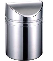 Δοχείο Απορριμμάτων Επιτραπέζιο 12×17εκ. Veltihome Ανοξείδωτο 3096 – VELTIHOME – 3096
