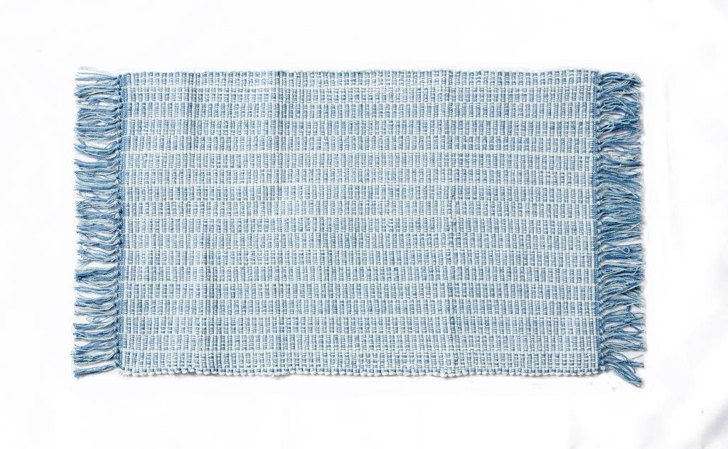 Χαλάκι Bαμβακερό 50x80εκ. Palamaiki Lila Blue (Ύφασμα: Βαμβάκι 100%, Χρώμα: Μπλε) - Palamaiki - 5205857196110
