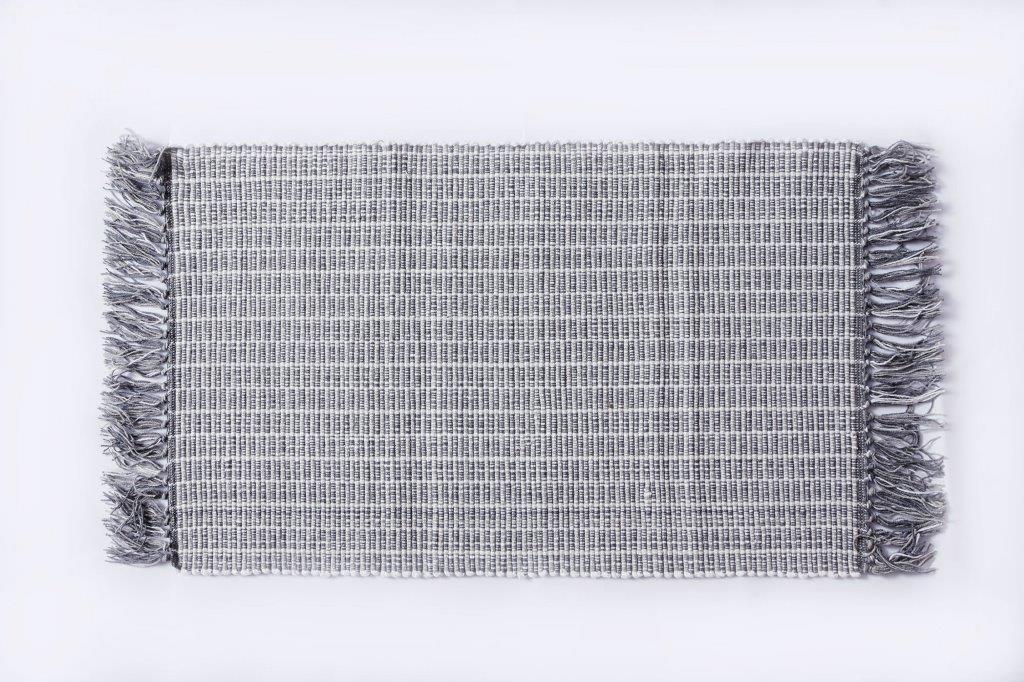 Χαλάκι Bαμβακερό 50x80εκ. Palamaiki Lila Grey (Ύφασμα: Βαμβάκι 100%, Χρώμα: Γκρι) - Palamaiki - 5205857196127