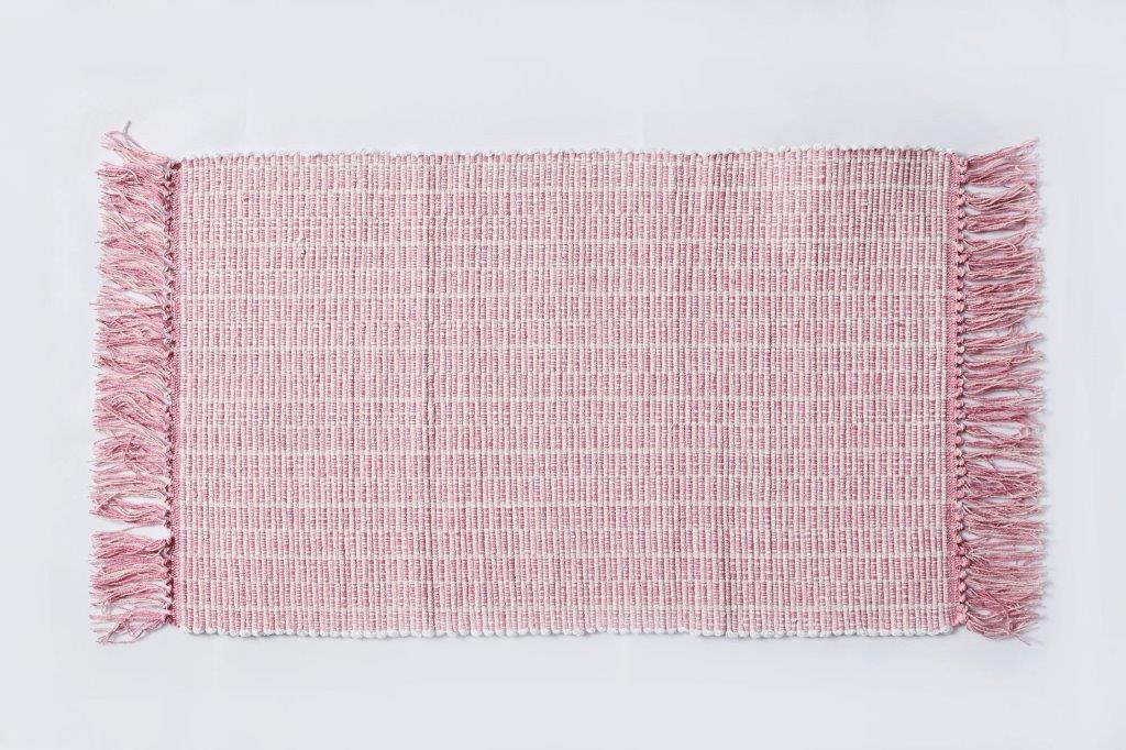 Χαλάκι Bαμβακερό 50x80εκ. Palamaiki Lila Pink (Ύφασμα: Βαμβάκι 100%, Χρώμα: Ροζ) - Palamaiki - 5205857196134