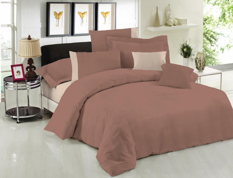 Σετ Σεντόνια Υπέρδιπλα 220×240εκ. Με Φάσα Brown-Beige 24home (Ύφασμα: 50%Cotton-50%Polyester, Χρώμα: Καφέ) – 24home.gr – 24-fasa-brown-beige