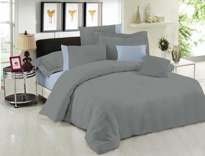 Σετ Σεντόνια Υπέρδιπλα 220×240εκ. Με Φάσα Grey-Ciel 24home (Ύφασμα: 50%Cotton-50%Polyester, Χρώμα: Γκρι) – 24home.gr – 24-fasa-grey-ciel
