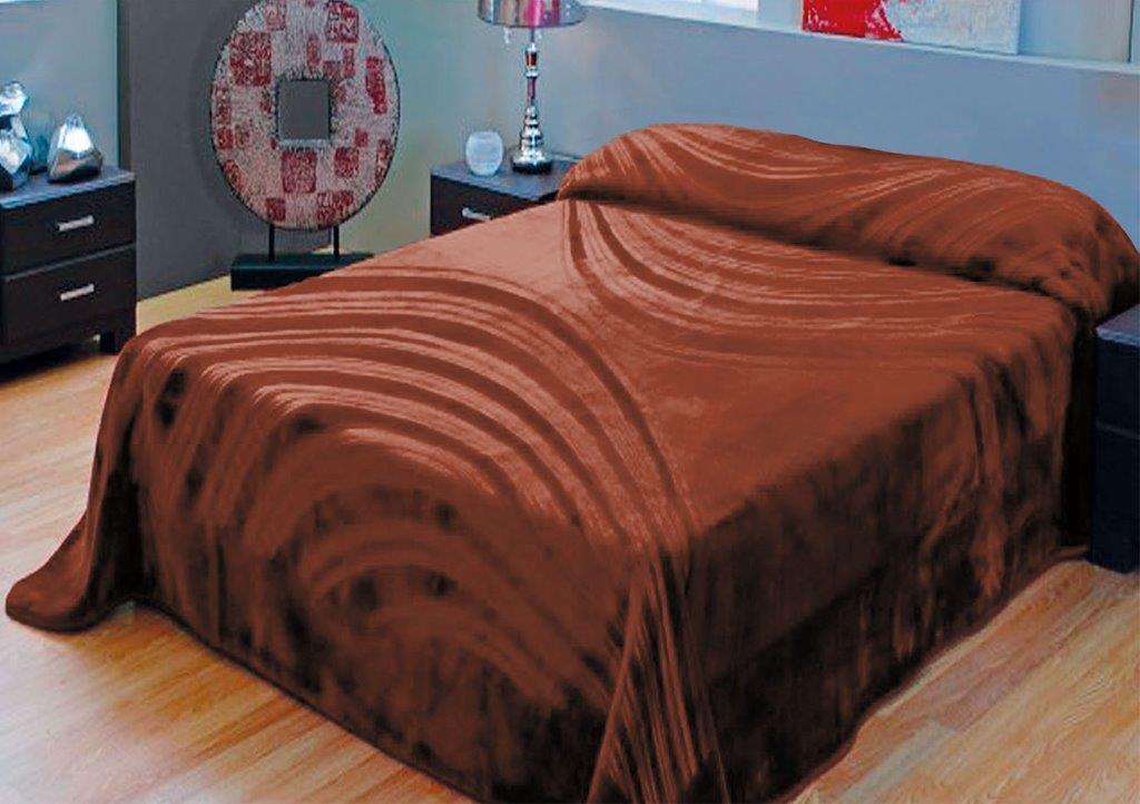 Κουβέρτα Υπέρδιπλη Βελουτέ 220×240εκ. Καφέ Βέγγε Dimcol (Ύφασμα: Polyester, Χρώμα: Καφέ) – DimCol – 1430225503600009