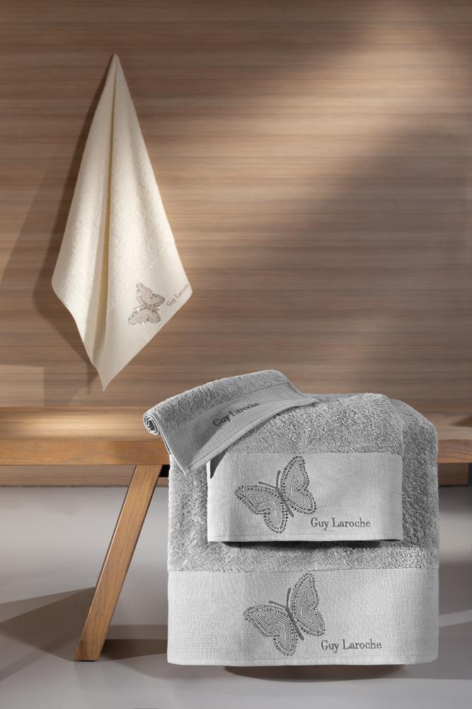 Πετσέτες Μπάνιου Σετ 3τμχ Primavera Silver Guy Laroche – Guy Laroche – primavera-silver