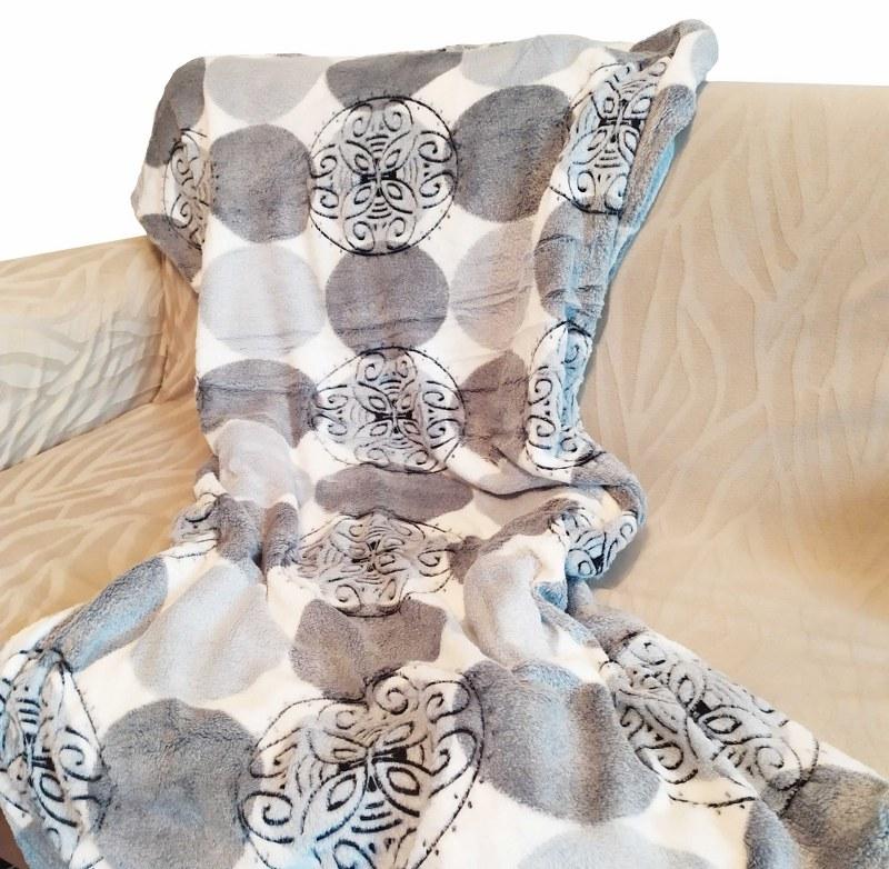 Κουβέρτα Καναπέ 100×150εκ. Ανάγλυφη Fleece Florence – OEM – florence-k1