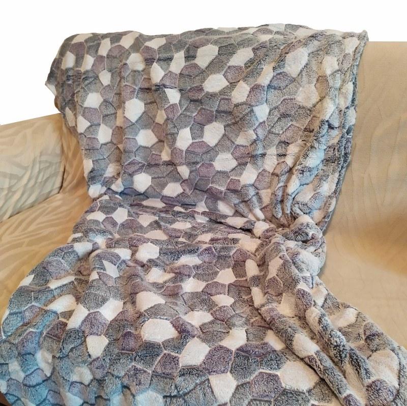 Κουβέρτα Καναπέ 100×150εκ. Ανάγλυφη Fleece Rock – OEM – rock-k1