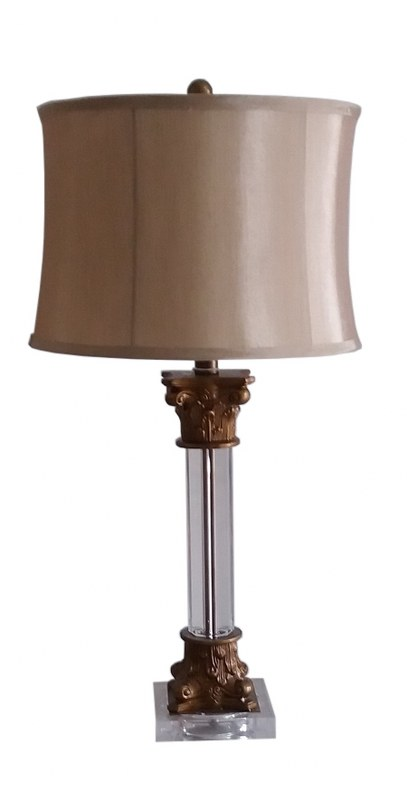 Φωτιστικό Επιτραπέζιο Μεταλλικό-Γυάλινο Αντικέ PAPSHOP 67εκ. DO13 – PAPADIMITRIOU INTERIOR PAPSHOP – DO13