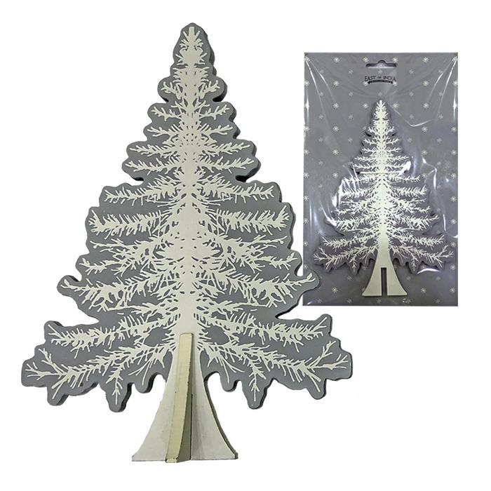 Δέντρο Ξύλινο Επιτραπέζιο 13×18,5εκ. – Xmas fest – 93-2589