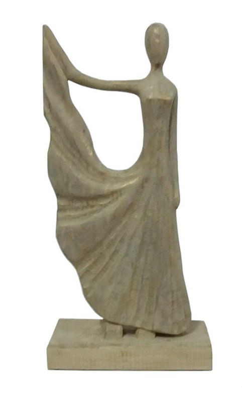 Άγαλμα Γυναικεία Φιγούρα Ξύλινη PAPSHOP 29×10,5×48εκ. FO01 – PAPADIMITRIOU INTERIOR PAPSHOP – FO01