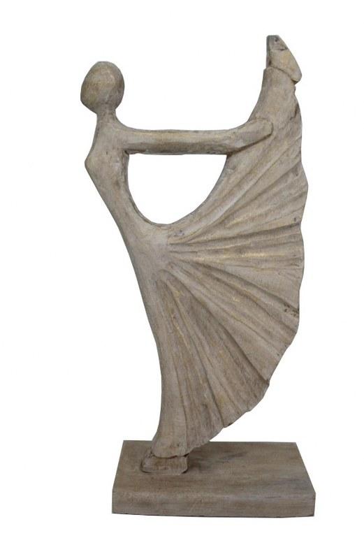 Άγαλμα Γυναικεία Φιγούρα Ξύλινη PAPSHOP 29x10,5x50εκ. (Υλικό...