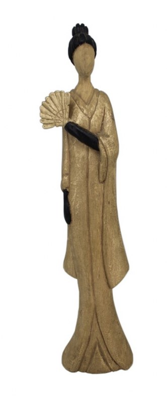 Άγαλμα Γυναικεία Φιγούρα Ξύλινη – Μεταλλική 11x7x46εκ. FO05 – PAPADIMITRIOU INTERIOR PAPSHOP – FO05