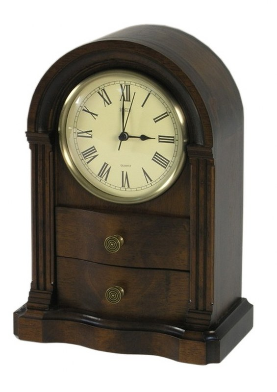 Ρολόι Επιτραπέζιο Ξύλινο PAPSHOP 21,5x12x30εκ. NT02 (Υλικό: Ξύλο, Χρώμα: Καφέ) - PAPADIMITRIOU INTERIOR PAPSHOP - NT02