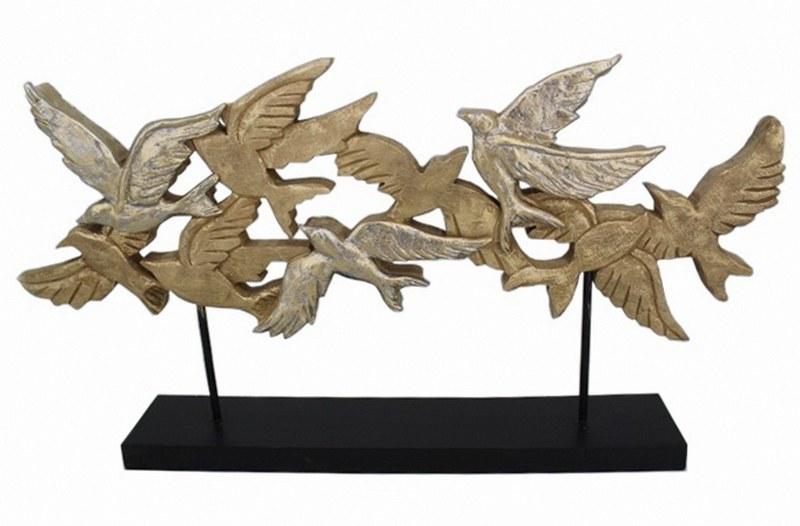 Διακοσμητικό Ξύλινο-Μεταλλικό Πουλιά PAPSHOP 73x10x37,5εκ. FO15 (Υλικό: Ξύλο, Χρώμα: Μαύρο) - PAPADIMITRIOU INTERIOR PAPSHOP - FO15