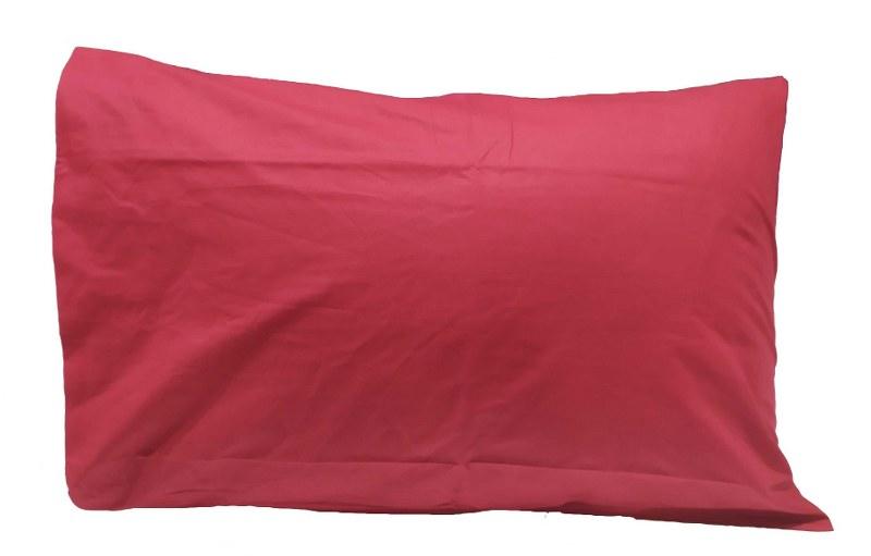 Ζεύγος Μαξιλαροθήκες Μονόχρωμες 50χ70εκ. Red (Ύφασμα: 50%Cotton-50%Polyester, Χρώμα: Κόκκινο) – KOMVOS HOME – 7000139-24