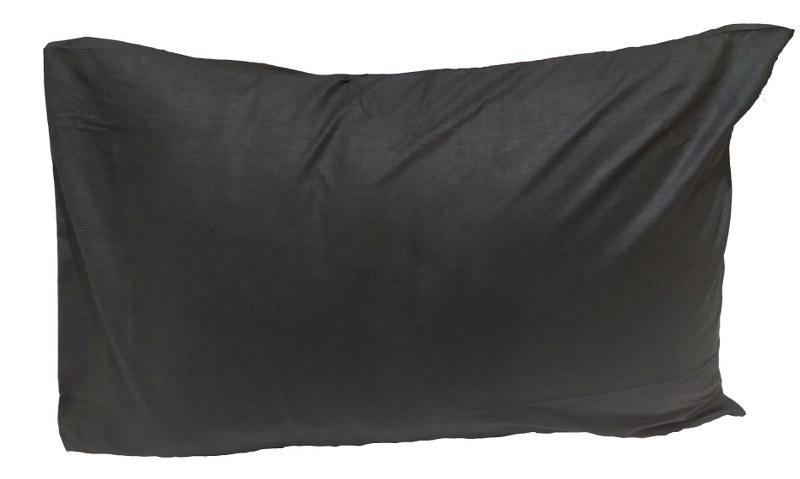 Ζεύγος Μαξιλαροθήκες Μονόχρωμες 50χ70εκ. Black (Ύφασμα: 50%Cotton-50%Polyester, Χρώμα: Μαύρο) – KOMVOS HOME – 7000139-25