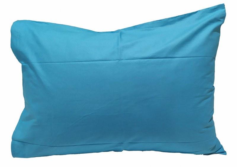Ζεύγος Μαξιλαροθήκες Μονόχρωμες 50χ70εκ. Tyrqoise (Ύφασμα: 50%Cotton-50%Polyester, Χρώμα: Τυρκουάζ) – KOMVOS HOME – 7000139-28