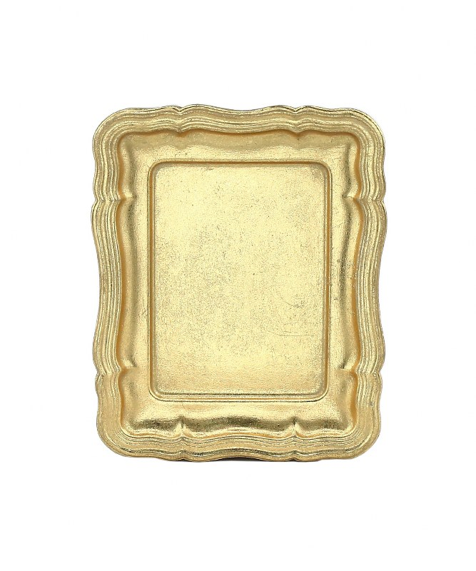 Δίσκος Ξύλινος-Polyresin PAPSHOP 16,5×13εκ. KI20 (Υλικό: Ξύλο, Χρώμα: Χρυσό ) – PAPADIMITRIOU INTERIOR PAPSHOP – KI20