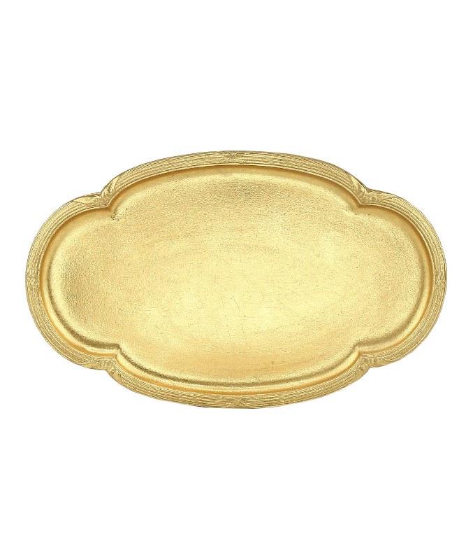 Δίσκος Ξύλινος-Polyresin PAPSHOP 26×16,30εκ. KI21 (Υλικό: Ξύλο, Χρώμα: Χρυσό ) – PAPADIMITRIOU INTERIOR PAPSHOP – KI21