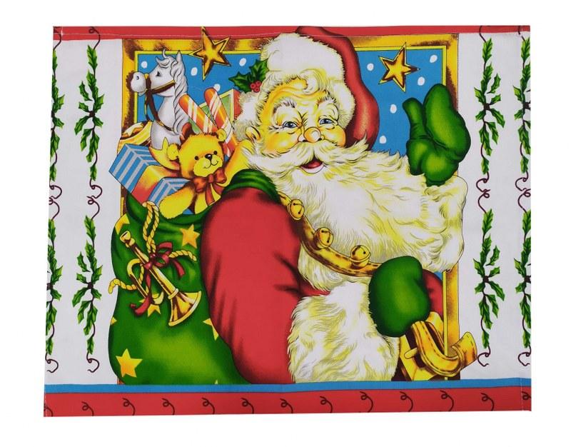 Σετ 4τμχ Σουπλά Υφασμάτινα Χριστουγεννιάτικα 39×45εκ. Santa Claus – OEM – 7011142-1
