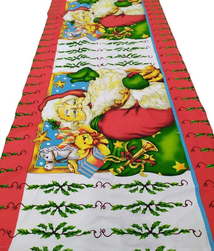 Χριστουγεννιάτικο Runner Υφασμάτινο 45×150εκ. Santa Claus – KOMVOS HOME – 7011128-1