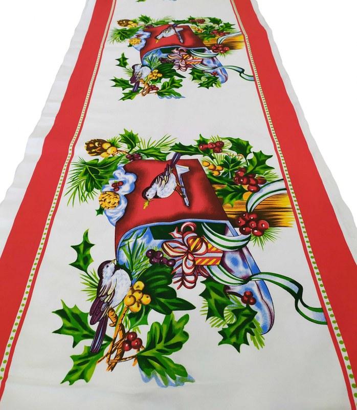 Χριστουγεννιάτικο Runner Υφασμάτινο 45×150εκ. Gee – KOMVOS HOME – 7011128-2