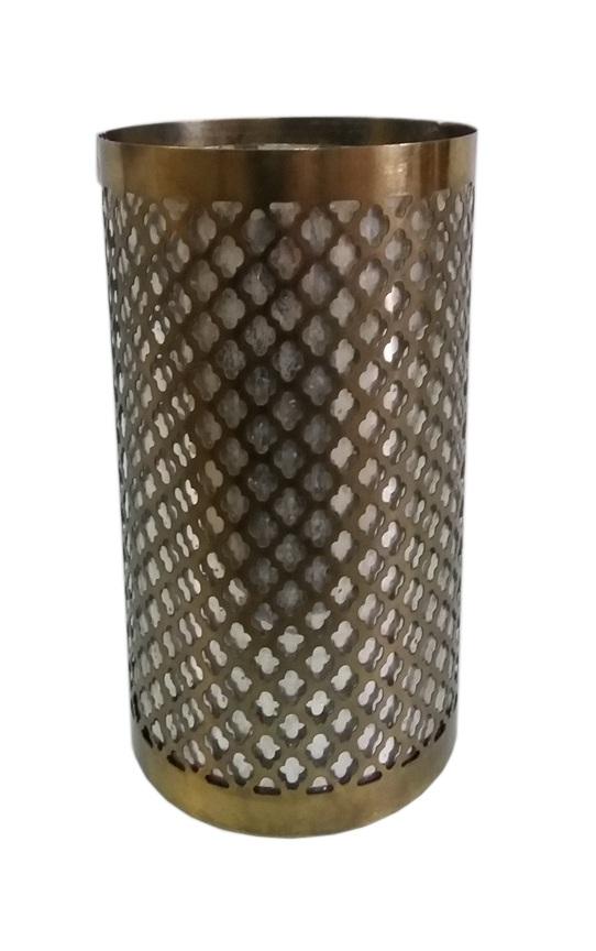 Κηροπήγιο Αλουμινίου-Γυάλινο Αντικέ PAPSHOP 15,5x20,3εκ. MH12 (Υλικό: Γυαλί, Χρώμα: Αντικέ) - PAPADIMITRIOU INTERIOR PAPSHOP - MH12