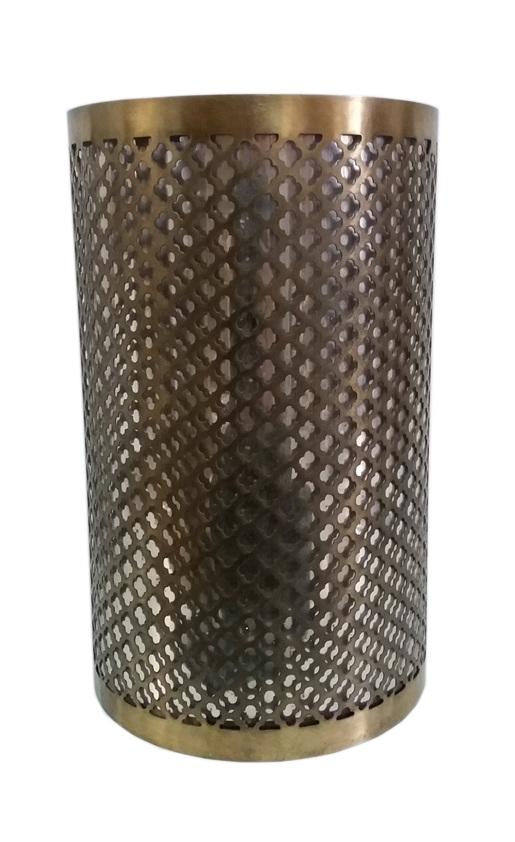 Κηροπήγιο Αλουμινίου-Γυάλινο Αντικέ PAPSHOP 20,3x30,5εκ. MH13 (Υλικό: Γυαλί, Χρώμα: Αντικέ) - PAPADIMITRIOU INTERIOR PAPSHOP - MH13