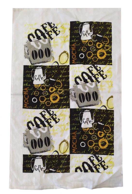 Ποτηρόπανο Βαμβακερό 38x65εκ. Coffee (Ύφασμα: Βαμβάκι 100%, Χρώμα: Καφέ) - KOMVOS HOME - 7011135-3